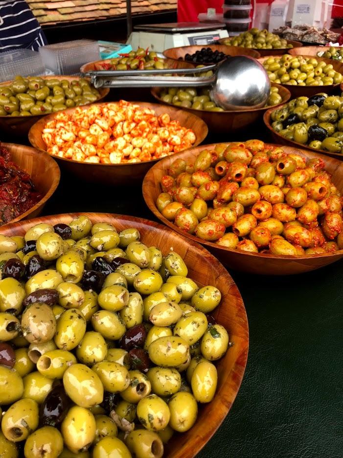 YELLOW SUNSHINE  Fresh Marinated Olives hand made Fresh Baklava Turkish Delight.