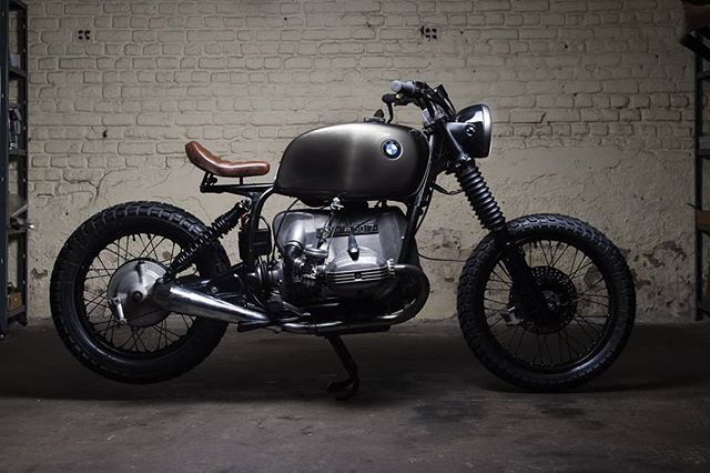 Great shot from our friend 📸@otruyman for our last project based on a BMW R80.  More pics coming soon... #tomacustoms #bmw #r80rt #custom #scrambler #tracker #bobber #scramblerstrackers #madeinbelgium #caferacerofinstagram #builtnotbought #bmwmotorcycles #bmwmotorrad