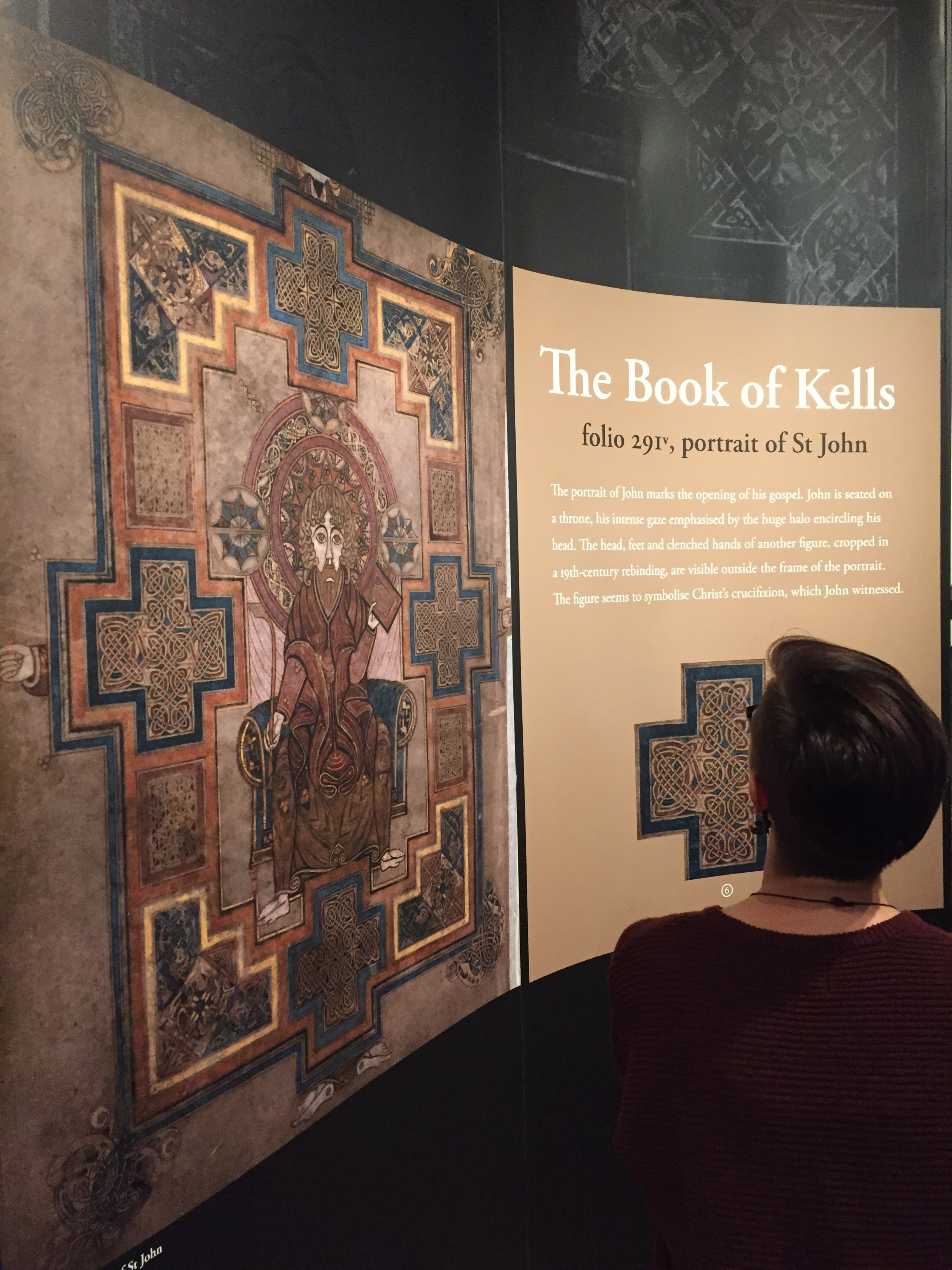 """The Book of Kells Exhibit, Trinity College, Dublin. For more on the importance of """"The Book of Kells"""", visit  https://www.tcd.ie/visitors/book-of-kells/"""