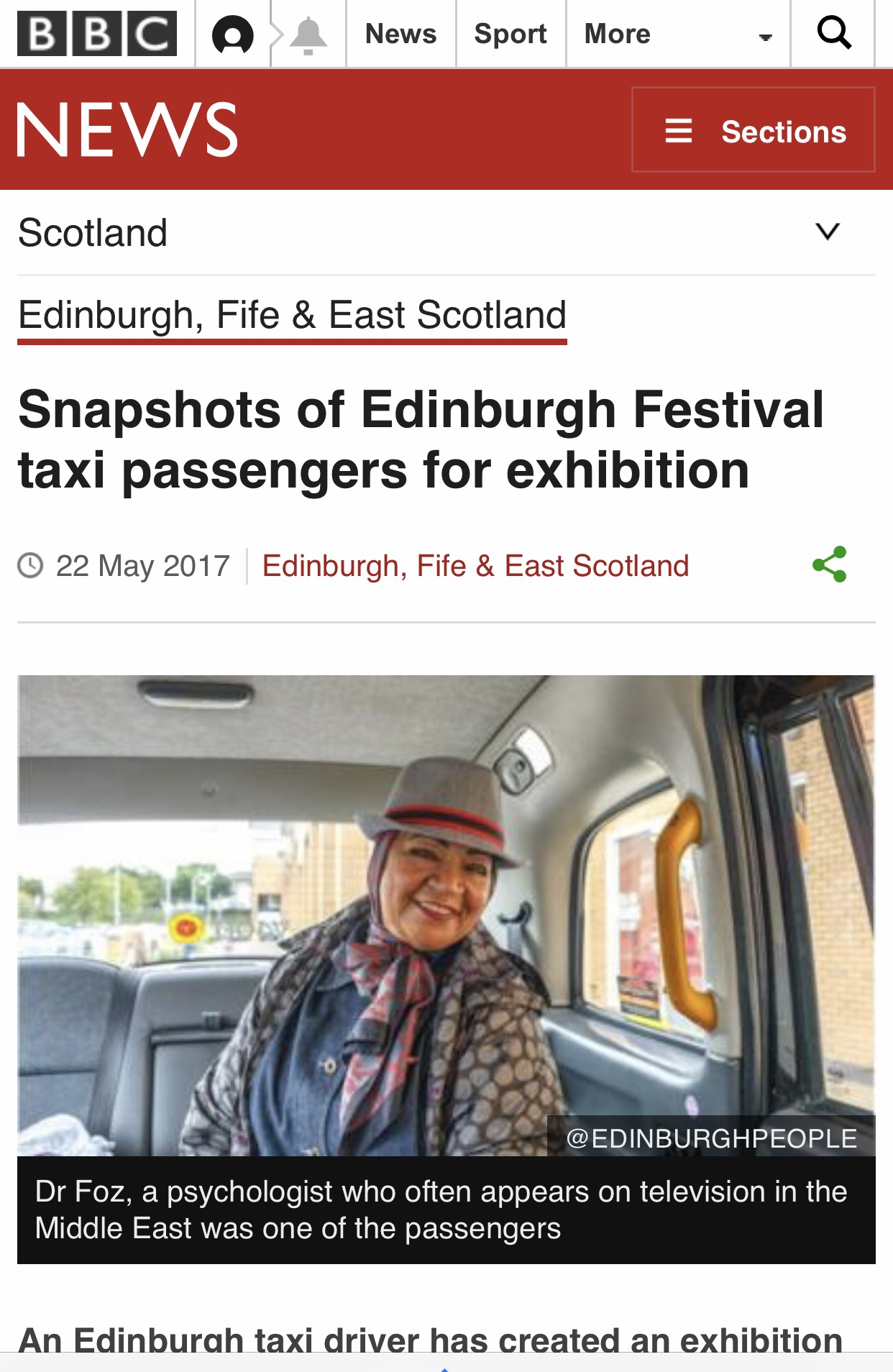 BBC Scotland News Monday 22nd May 2017.