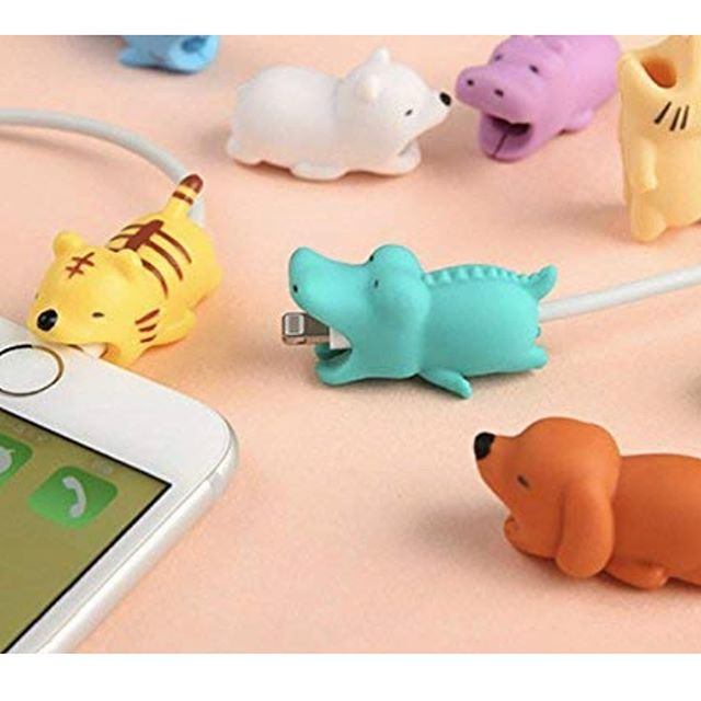 Cable pets for your iPhone charger keep you from pulling the wire and fraying the top. These cute critters are ready to go! #bakerspharmacy #jamestownri #newportri #cablepet #cutecritters #liveyourbest