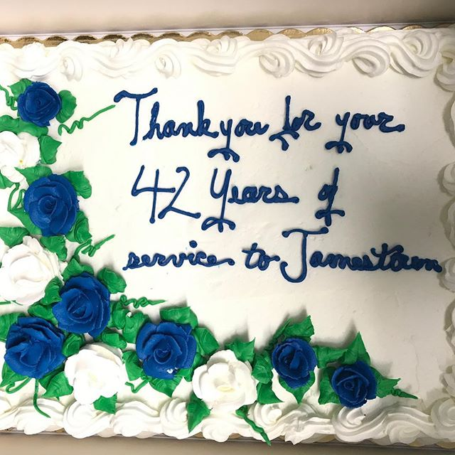 A wonderful customer had this made for us along with a yummy lunch. We appreciate the kindness everyone has shown during this transition. Thank you to all. #bakerspharmacy #jamestownri #sadtoseeitgo #liveyourbest