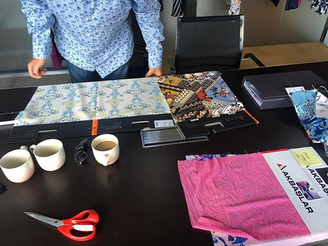 Meetings require coffee ☕️ #design #fabric #fabricsourcing #textiledesigner #textiledesign #textiles #pattern #fashion #textile #designer #textileprint #print #patterndesigner #fabric #printandpattern #office