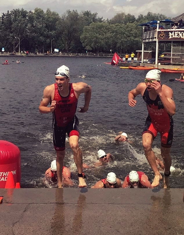 Swim done, time to get after it on the bike. Photo by Montana Fisher-Shotton