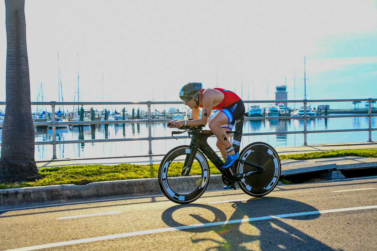 On the bike course at St. Anthony's Triathlon. Photo by Paul Higgins