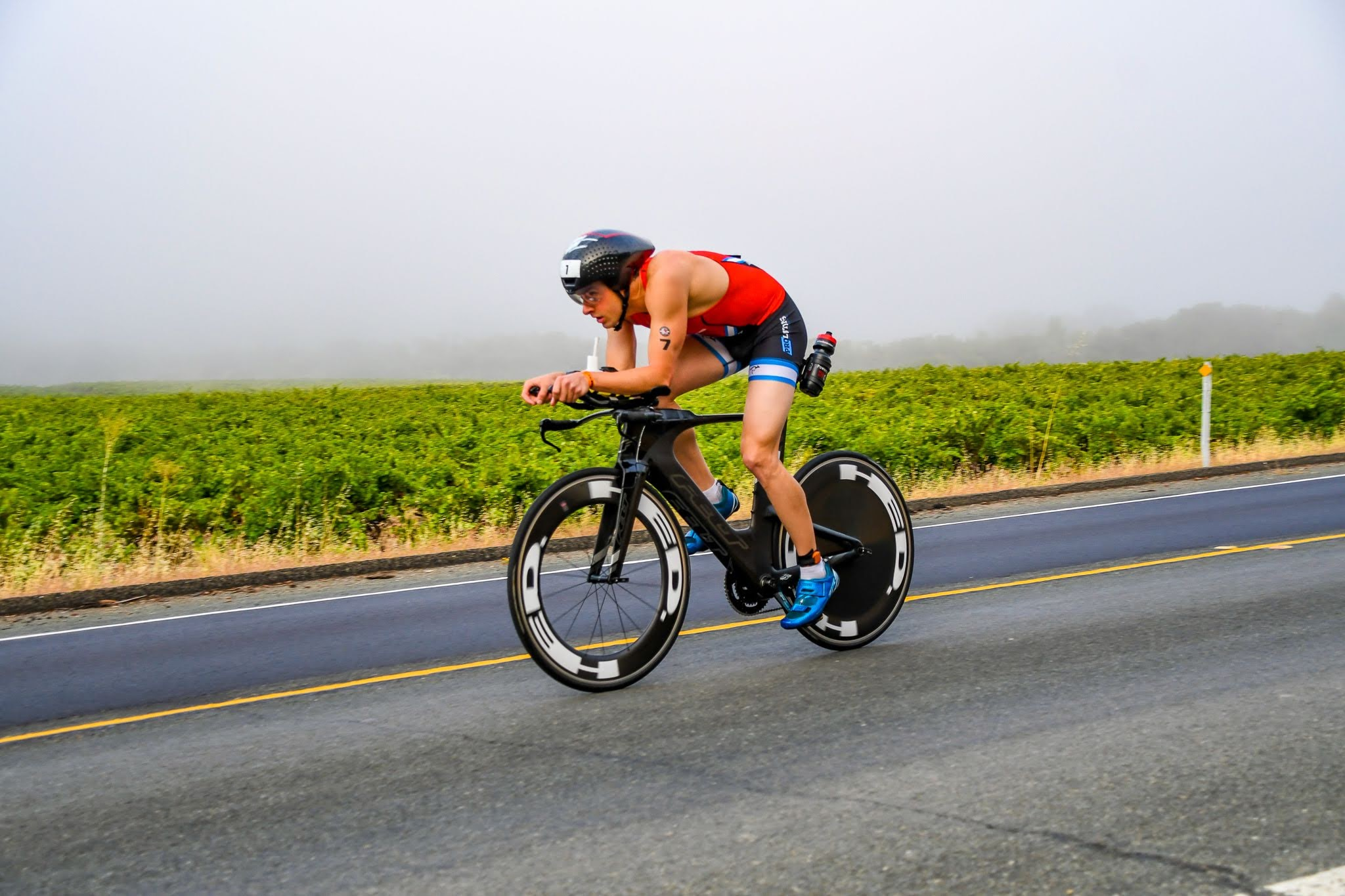 The bike course at Ironman 70.3 Santa Rosa. Photo by Paul Higgins