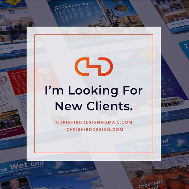 If you or someone you know are looking for a professional graphic design service that gets to know your brand, develops agency quality design ideas with the execution and knowledge of an in-house designer, �then contact me today. Visit: https://chrishirddesign.com/ or enquire direct at: chrishirddesign@gmail.com