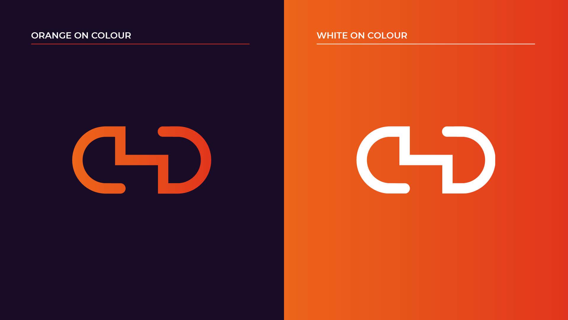 Logo on colour