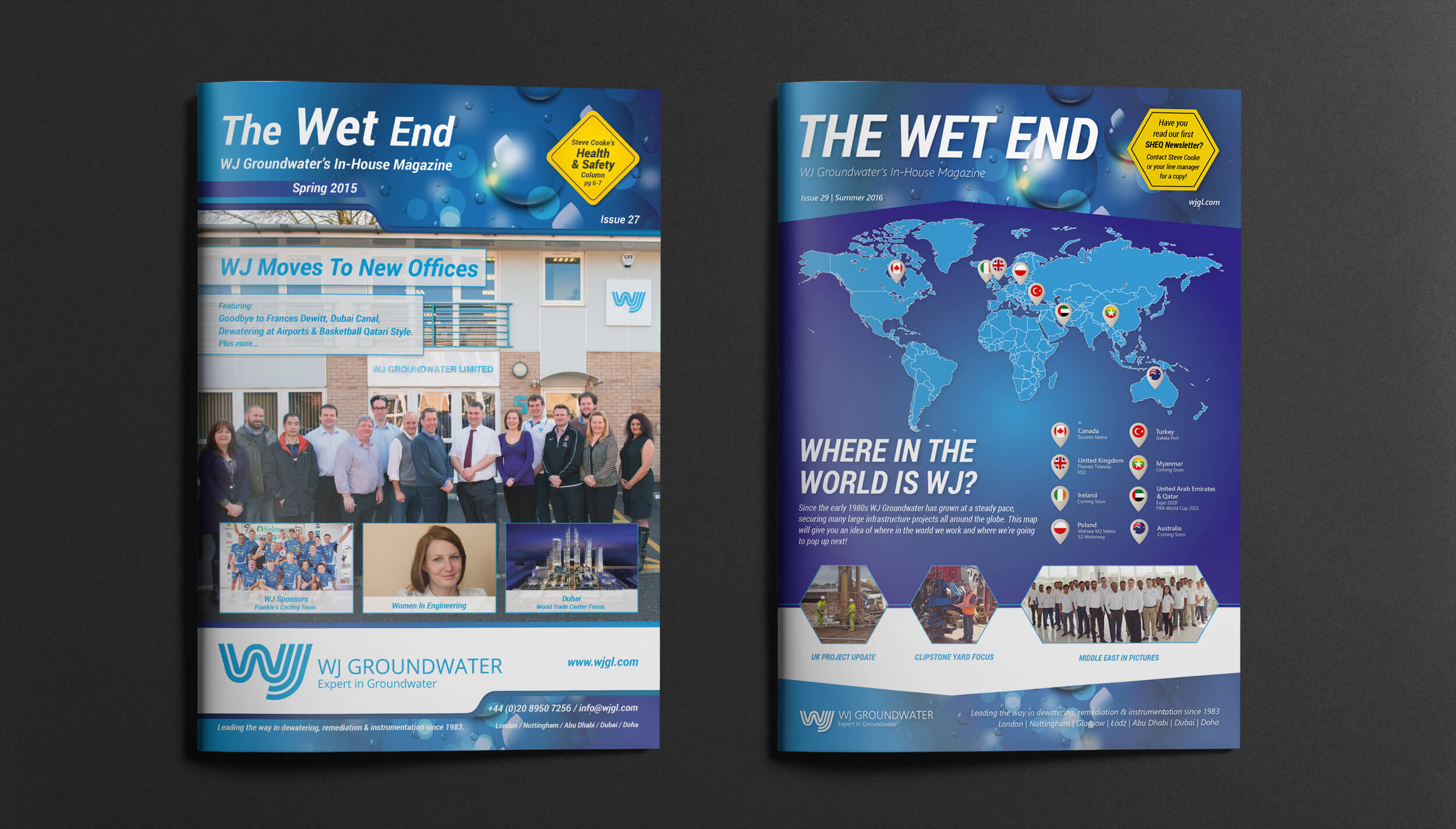 (Left) Issue 27 (Right) Issue 29 with updated branded design.