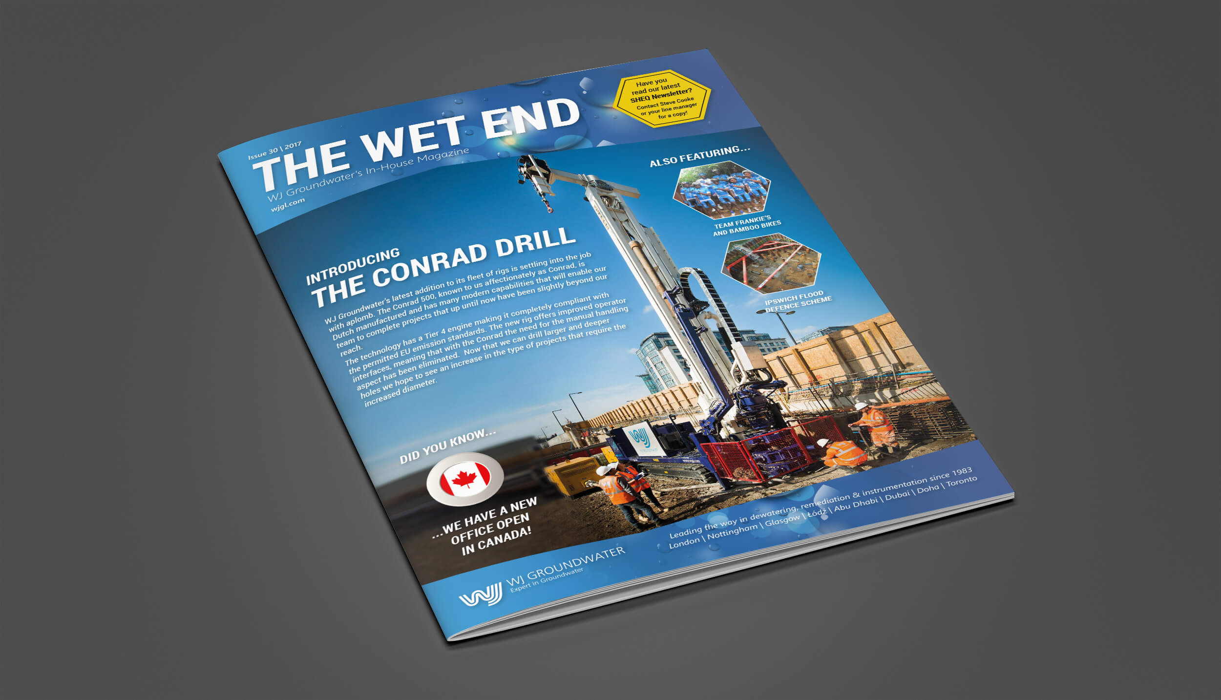 The Wet End - Issue 30 Front cover