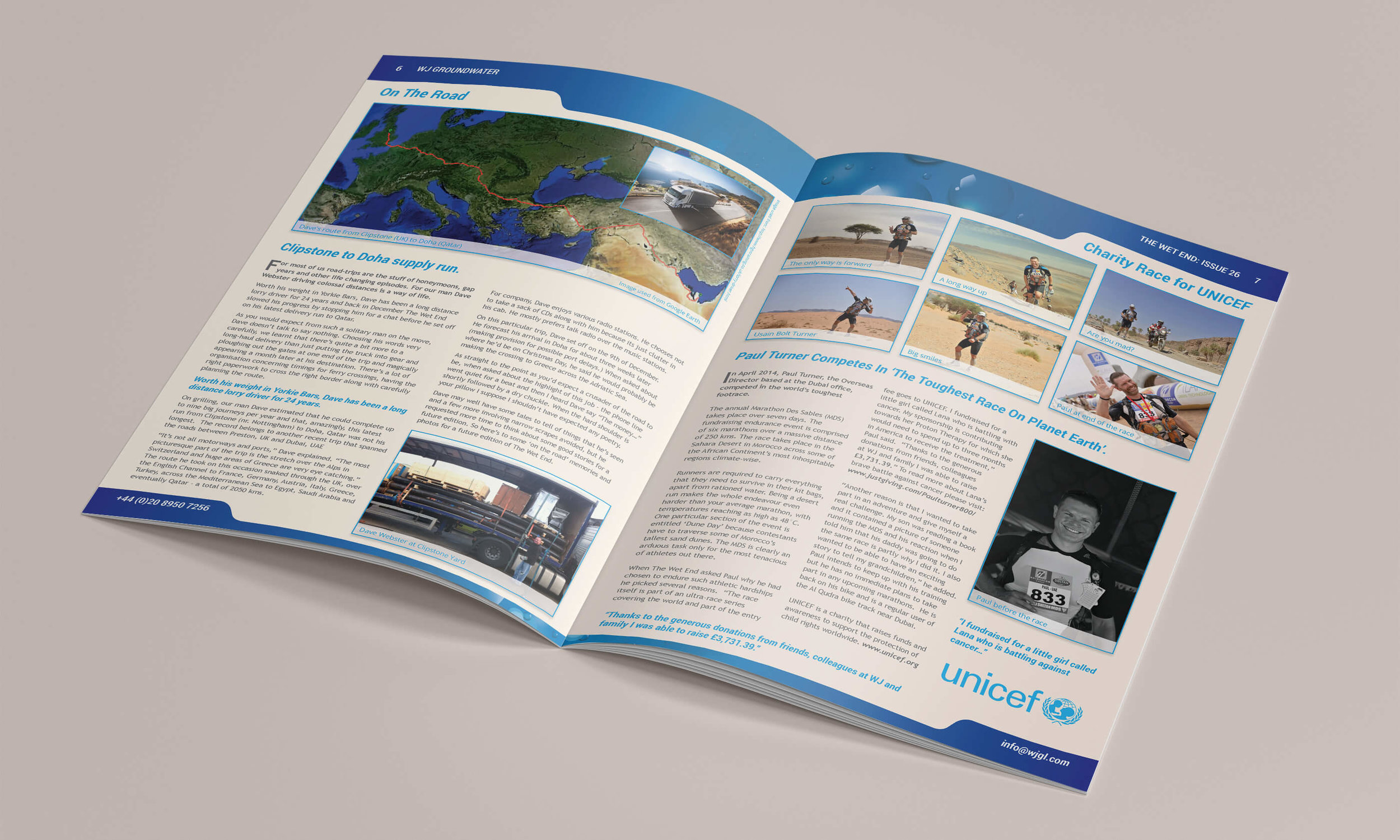 Issue 26 inside double-page spread