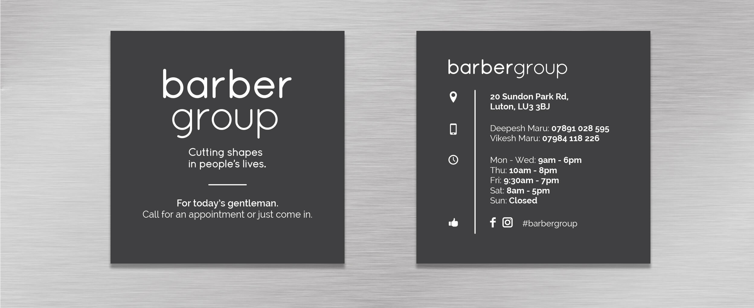 Square Double-Sided Business Cards