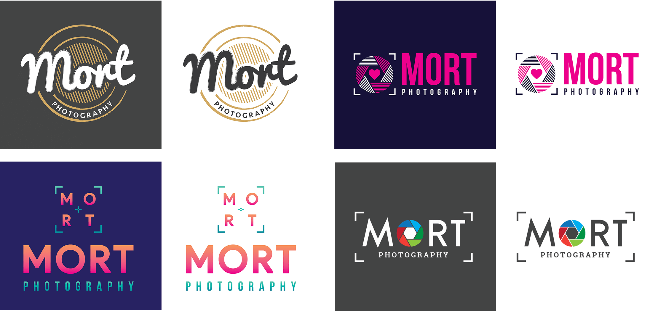 Initial ideas for the logo