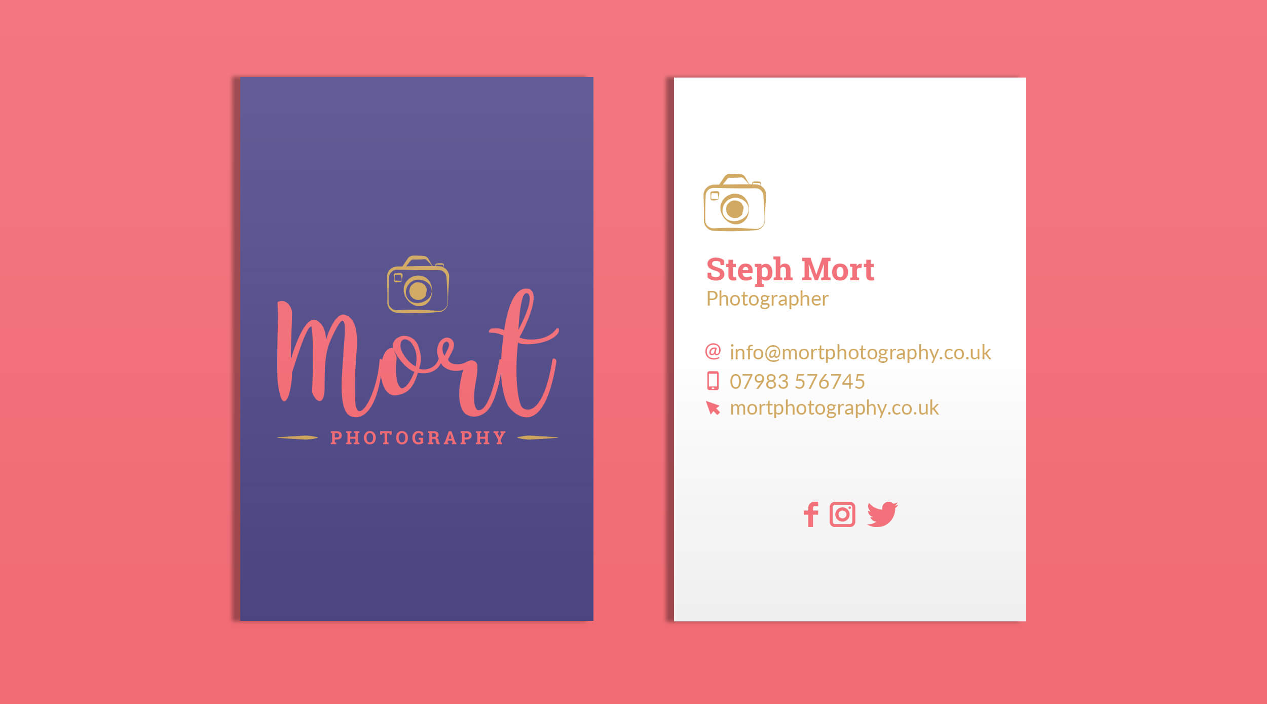 Business Card mock up for Mort Photography