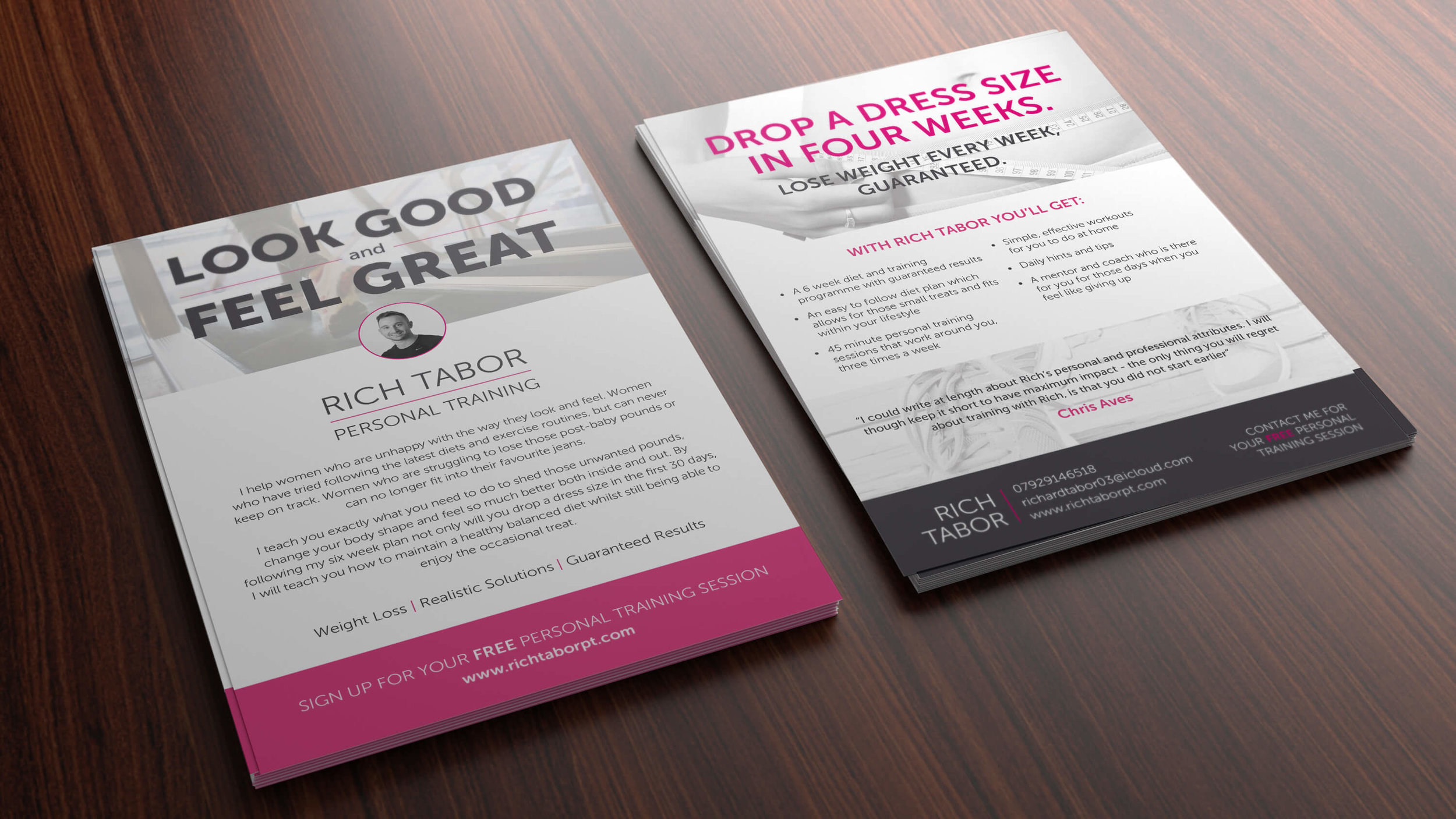 Promotional Material for   Rich Tabor   Personal Trainer