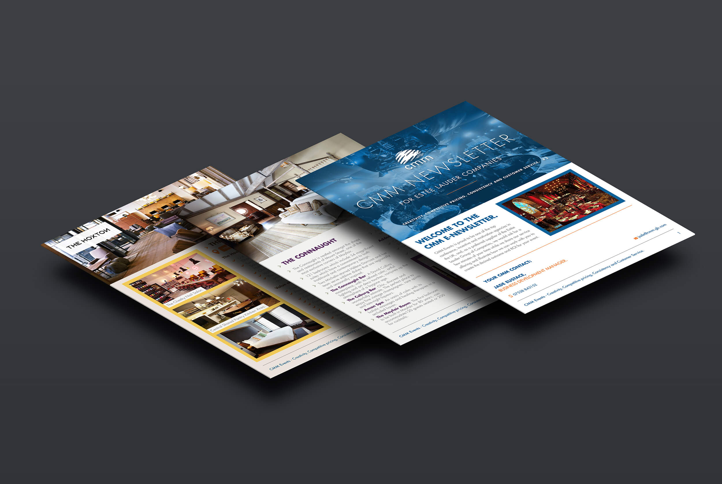 Digital Newsletter for   CMM Events