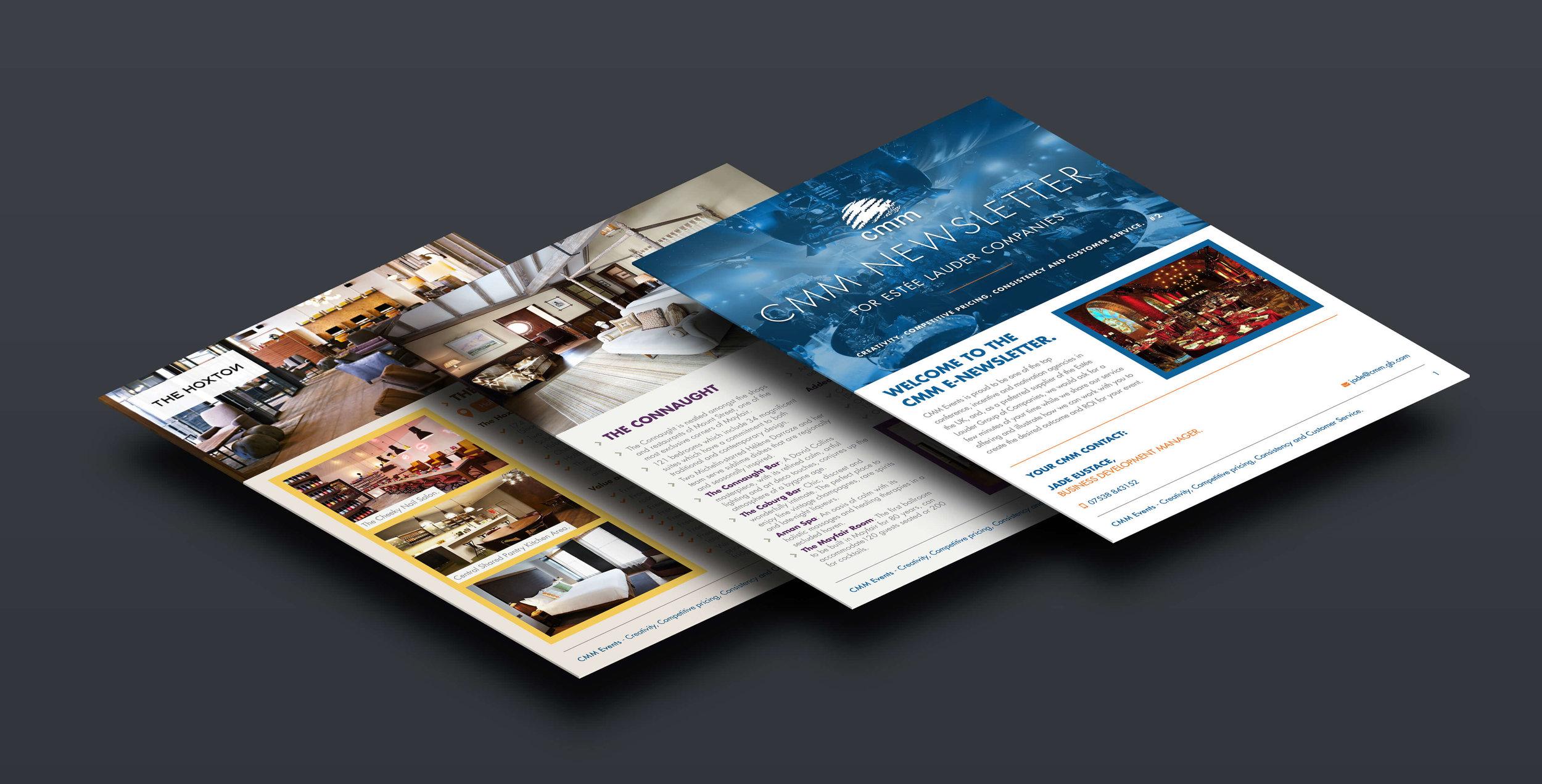 CMM Events Digital Newsletter Tablet Screens