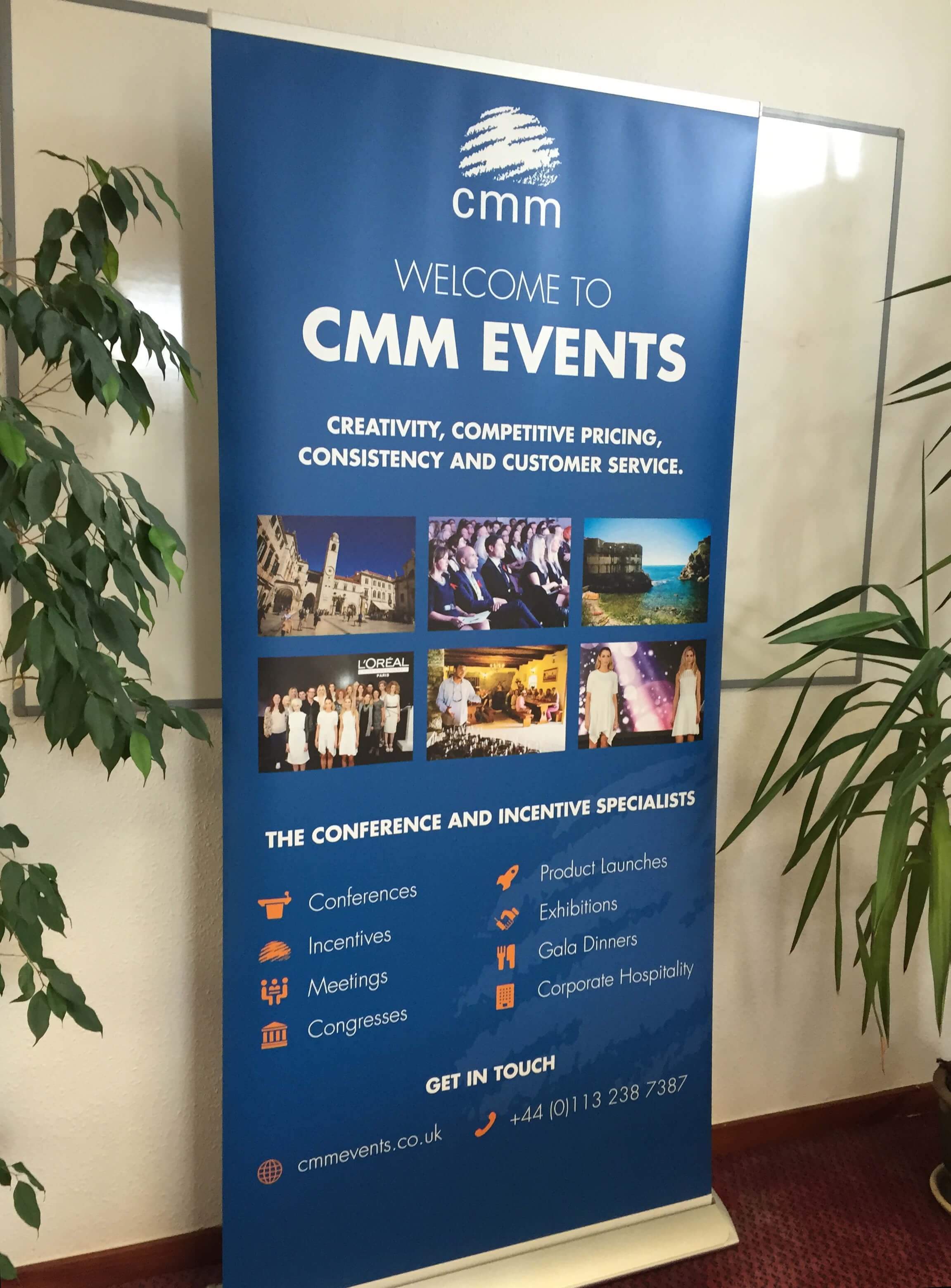 Office Pull-up banner for CMM Events