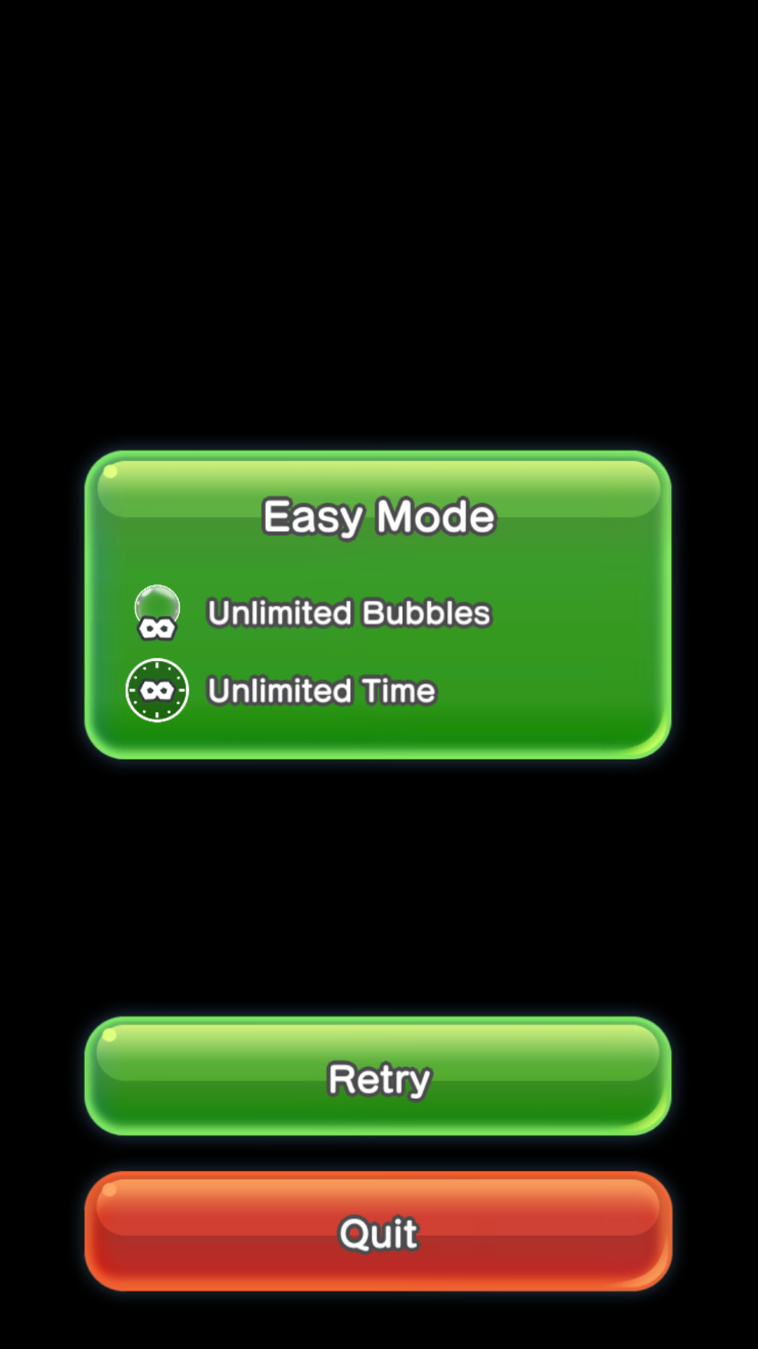 Easy Mode Pop-up which comes after you fail in any World Tour level.