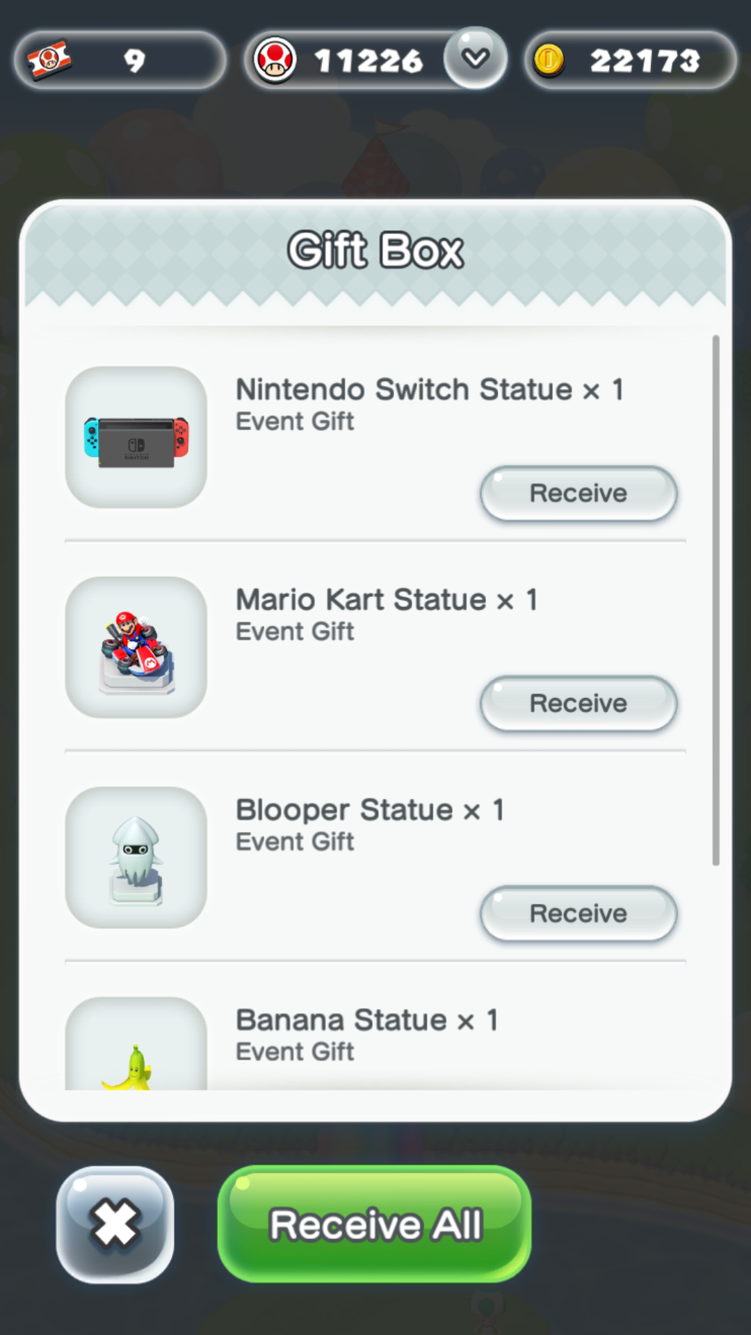All event decorations in Gift Box