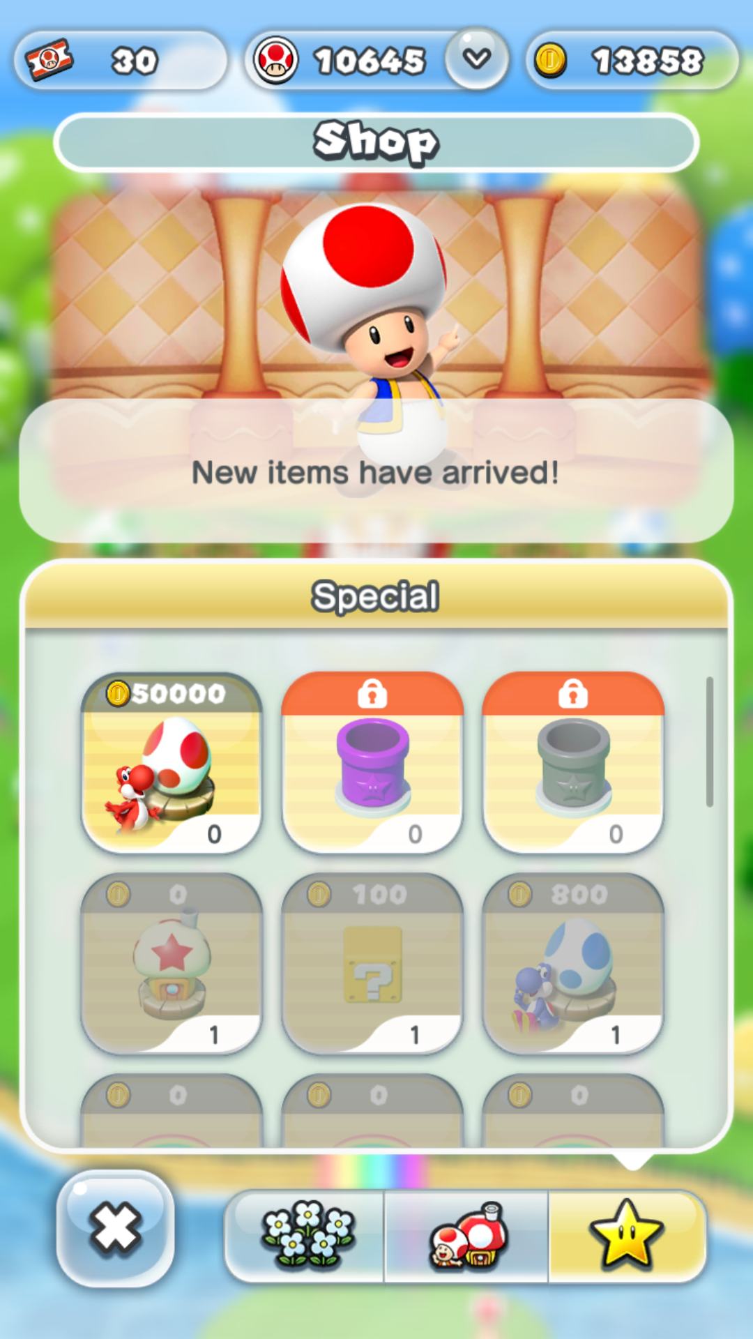 Red Yoshi is the only character I've not unlocked because the grind to get 50,000 coins is too much.