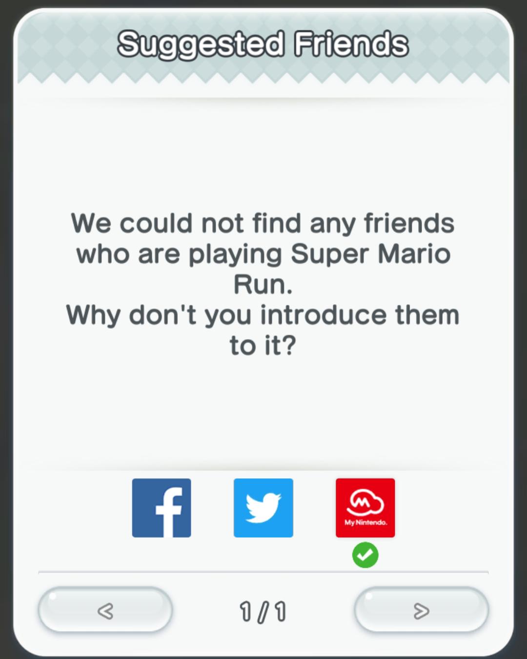 Social - Suggested Friends in Super Mario Run