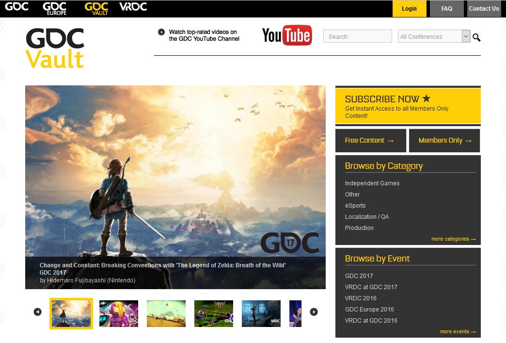 GDCVault Homepage