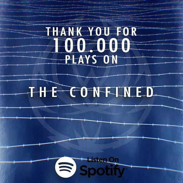 Insanely proud of this one. After Lucie, The Confined reaches the 100.000 streams as well. Thank you all! ❤