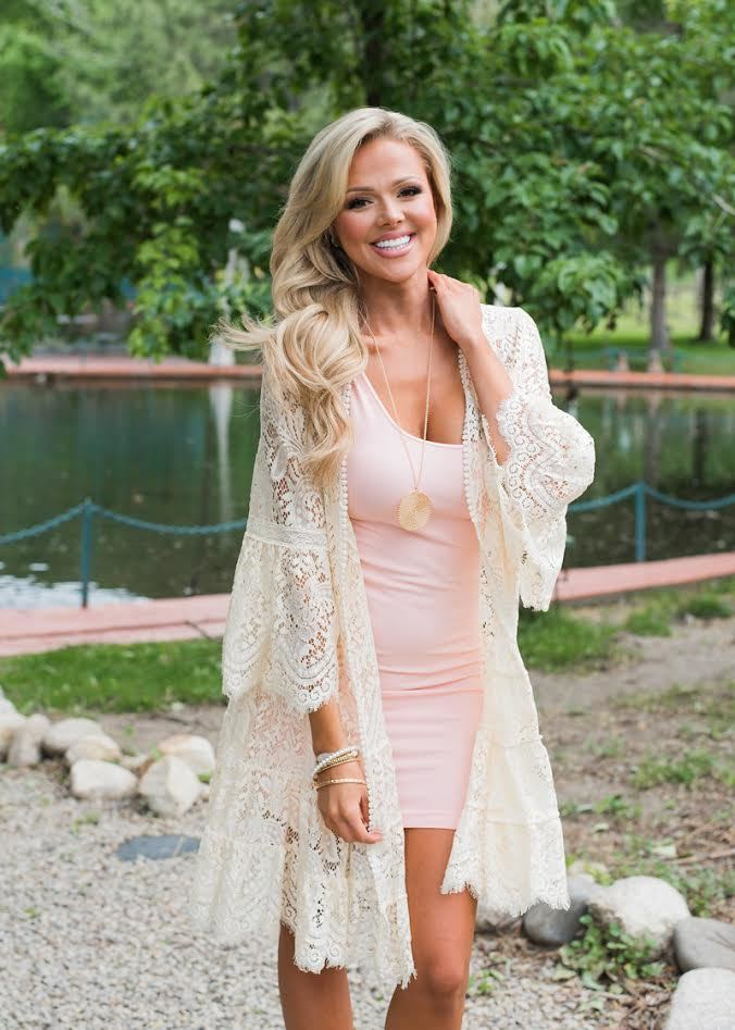 Are you more of a Bohemian style type of girl? If so, this entire outfit is perfect! I love this cardigan! This cardigan and dress can be found  here .