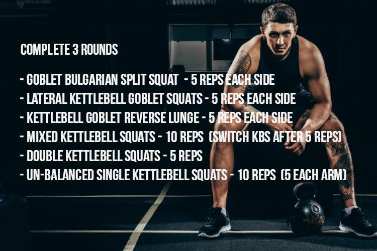 Kettlebell Workout: Kettlebell Leg Workout Complex