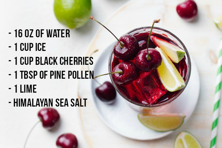Cherry Limeade with Pine Pollen