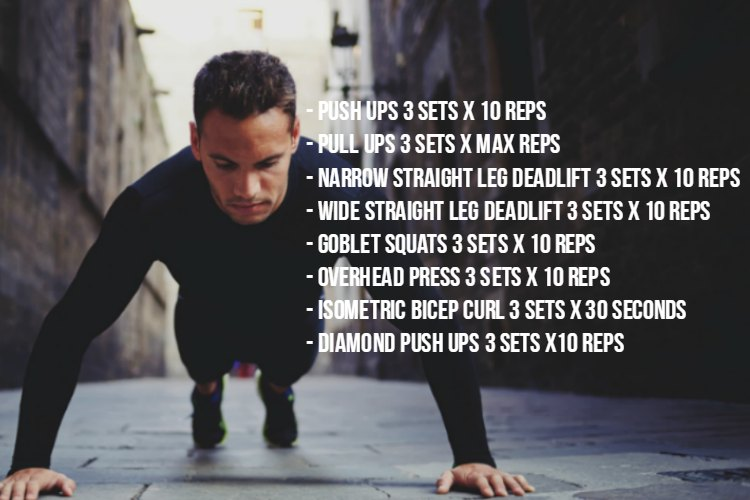 Weekly Workout Program 8.6.17