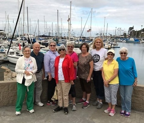 Some of our walkers at the Oceanside Harbor.
