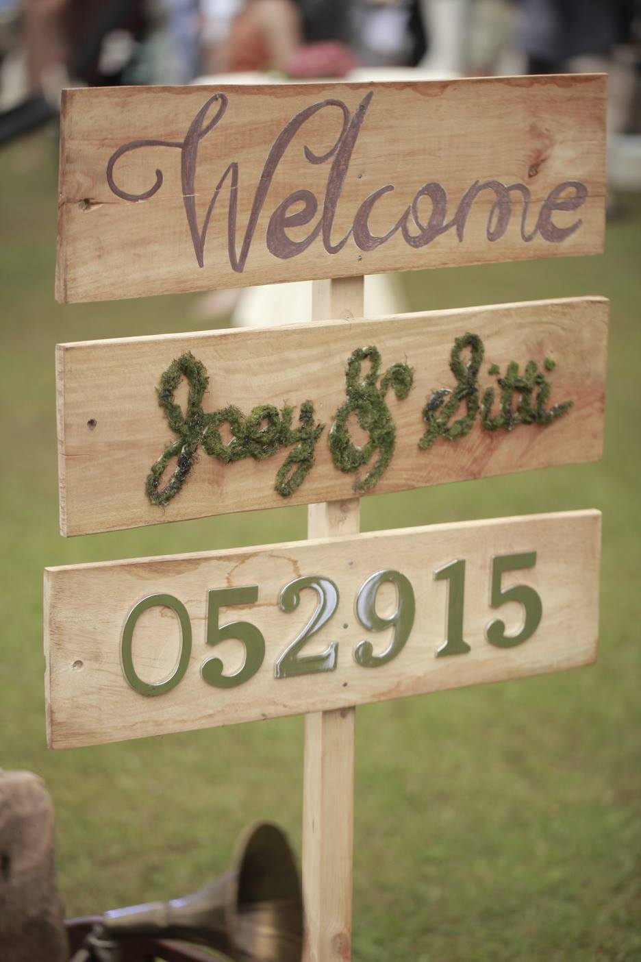 Our welcome signage made by Julienne Styling. <3