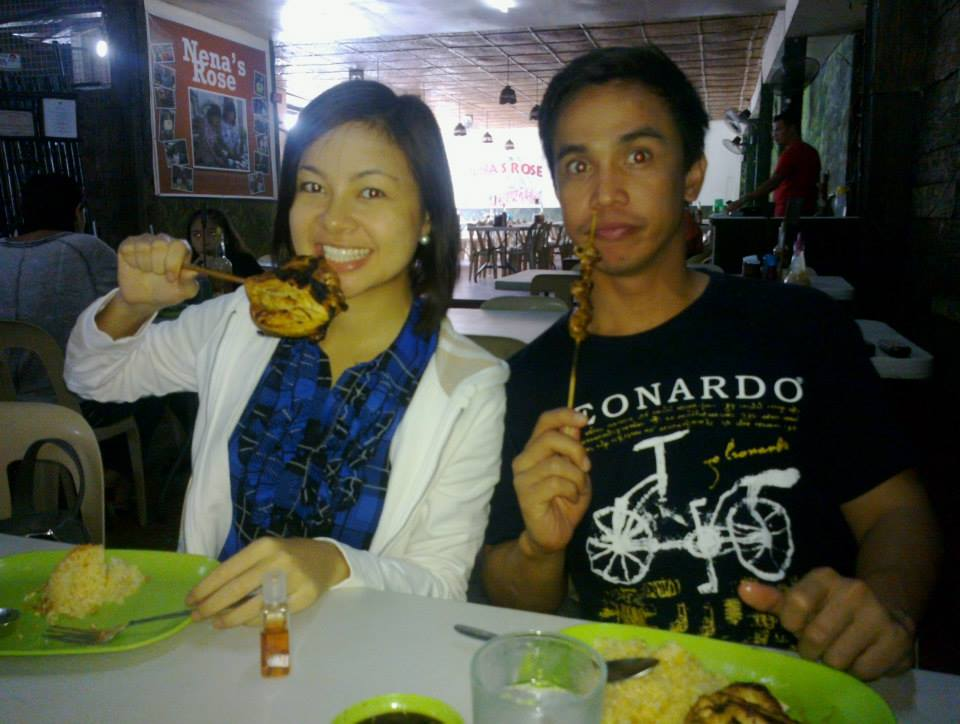 Pre-chocolate chicken inasal at Nena's Rose :p