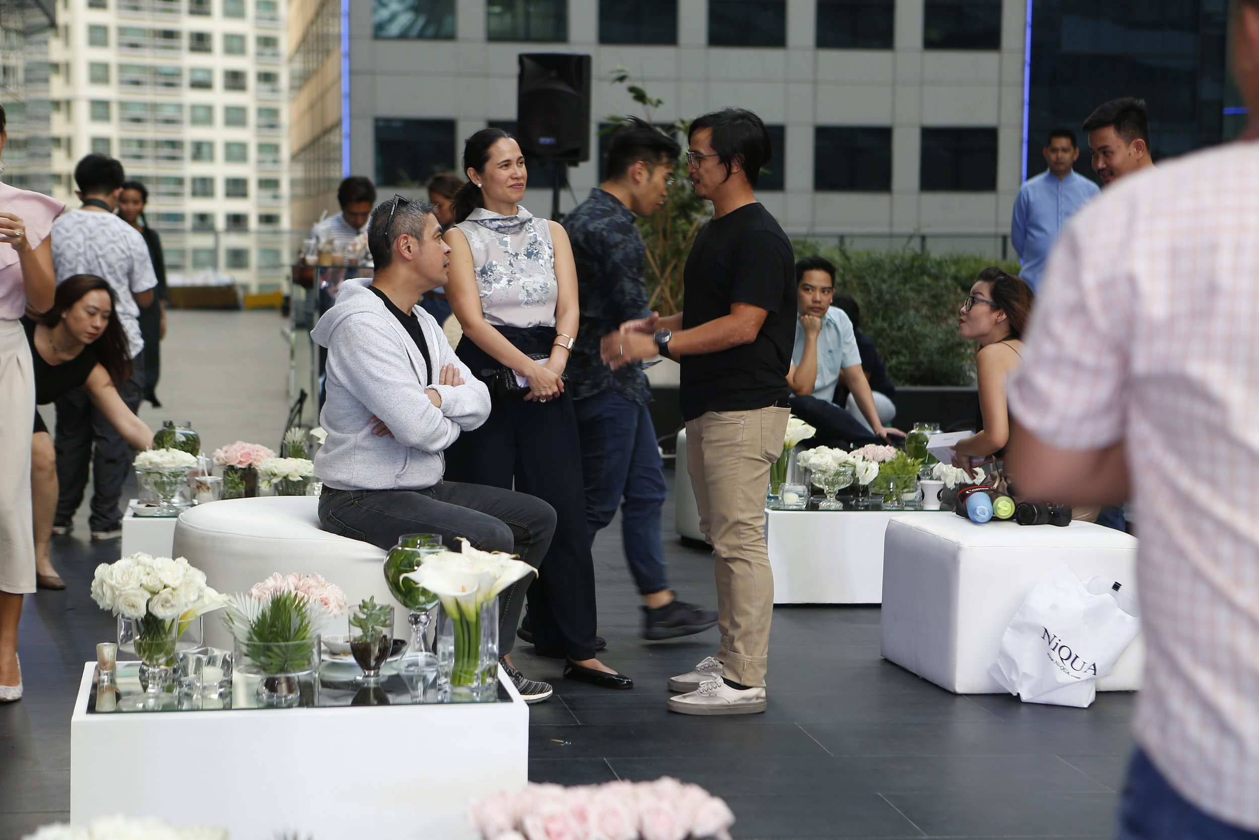 My husband Joey with our Ninong Anthony Pangilinan and his timelessly beautiful (inside and out!) wife, Maricel Laxa-Pangilinan.
