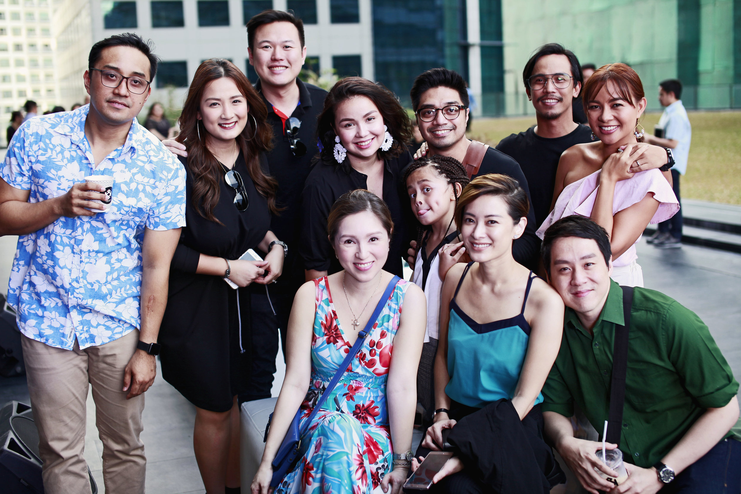 My sessionista family with honorary members Tom and Ehra Madrigal-Yeung. <3