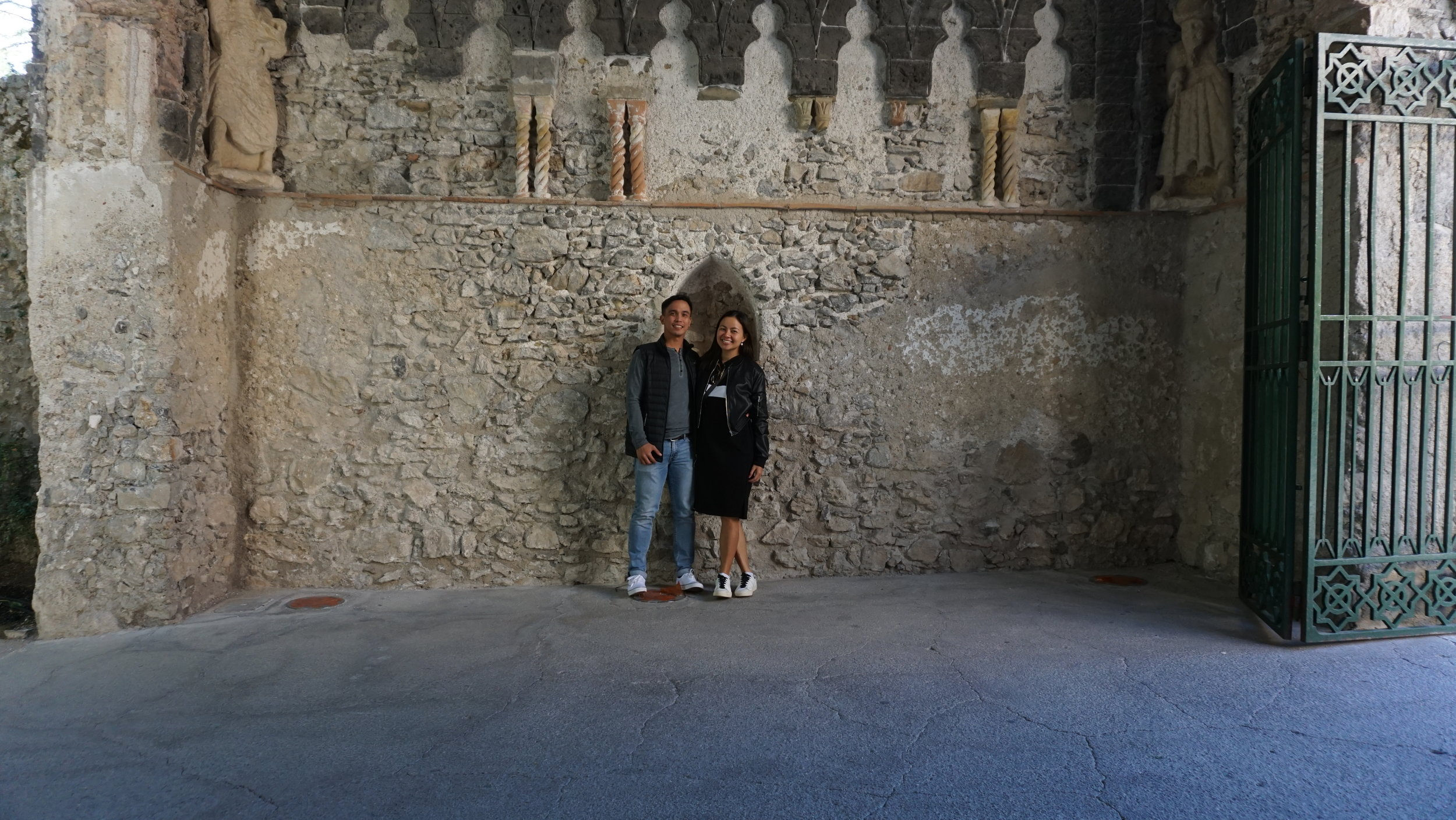 Photo at the entrance of Villa Rufolo.