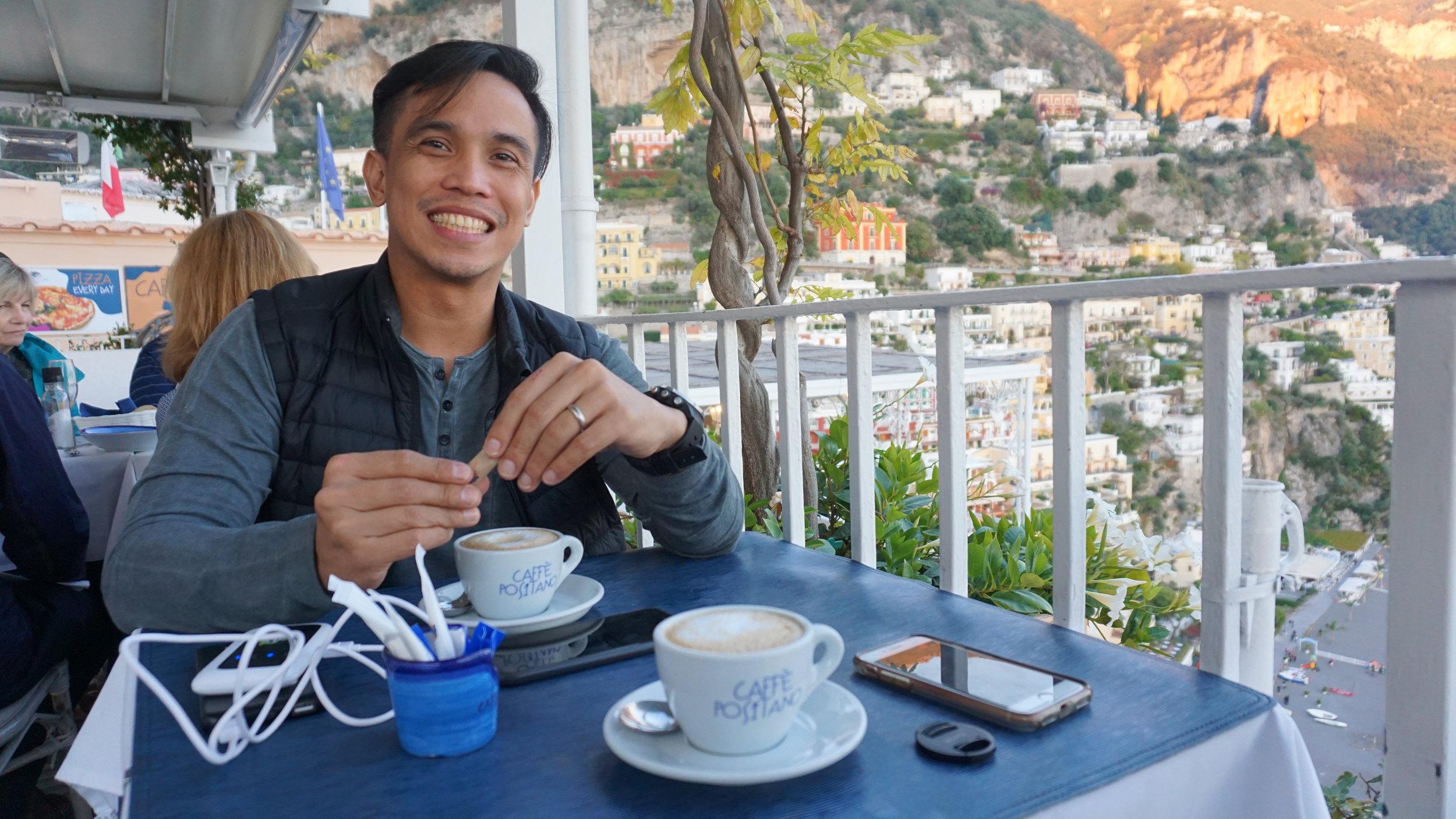 Joey loved Italian coffee :)