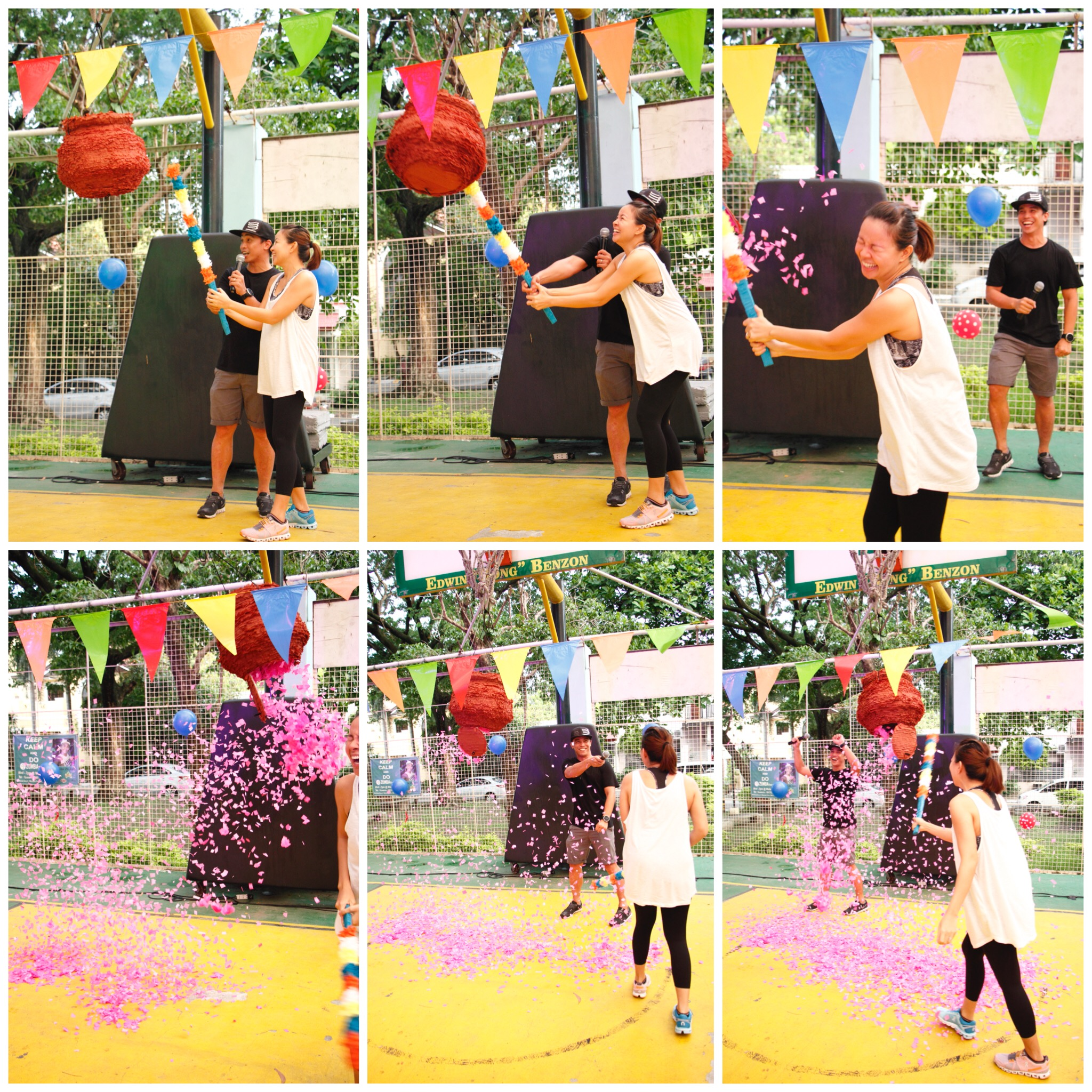 "When he saw the pink confetti, Joey kept on saying, "" Sabi ko sa'yo e! "" He already had a feeling it was a baby girl. <3"