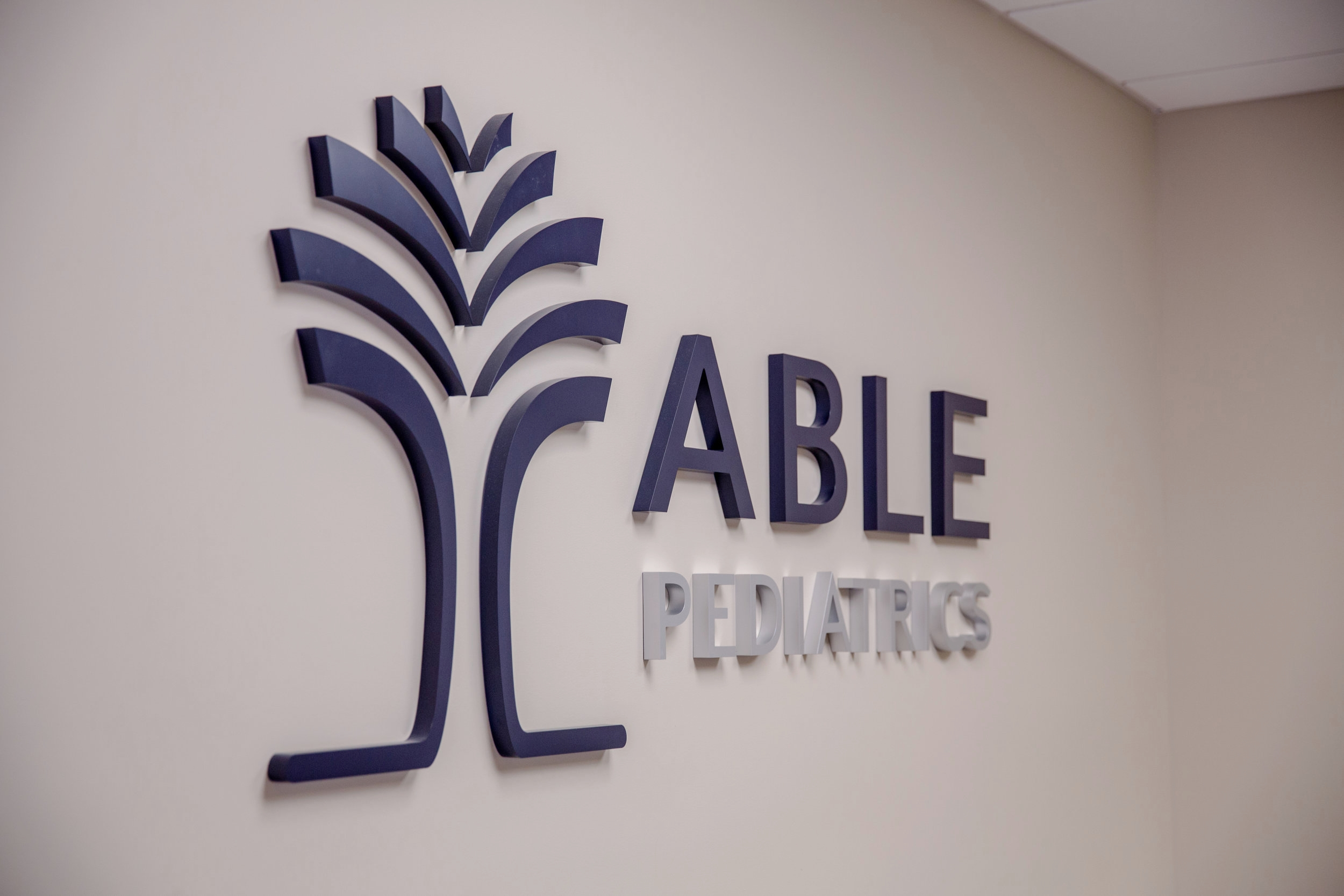 ABLE Pediatrics Wall Sign