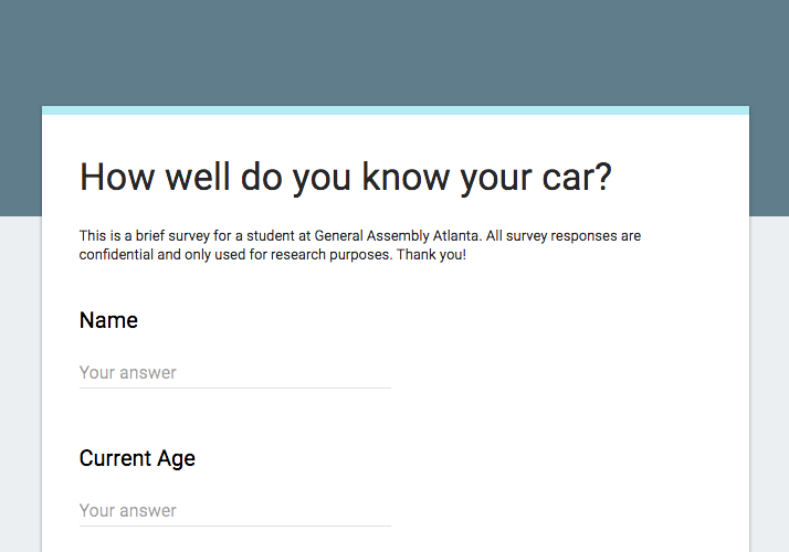 - To get an overview of how people viewed their car and what pain points are there, I started my research started with an online screening survey. After receiving 84 responses and conducting follow-up surveys and phone interviews I was able to hone in on patterns and discern who my users are.
