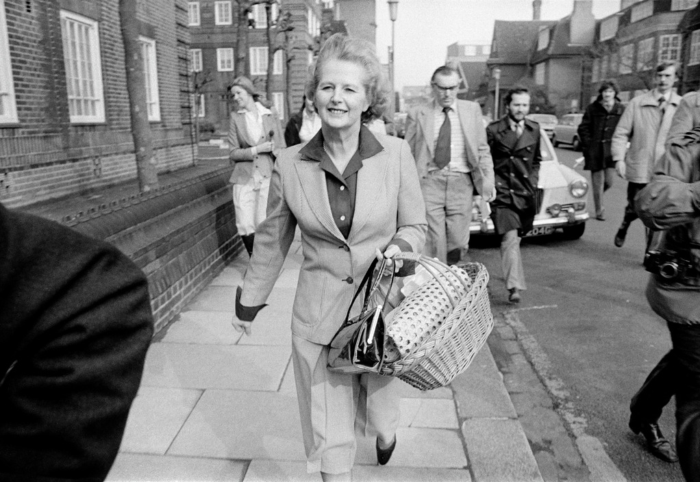 GB. London. The General Election campaign of 1979. The leader of the Conservative Party, Margaret THATCHER, campaigning near her home in Chelsea.