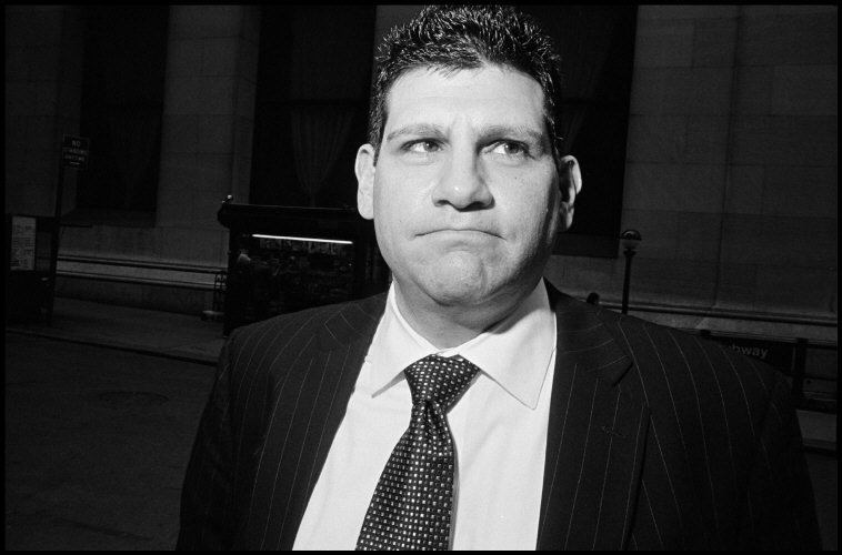 USA. New York City. 2007. Wall Street businessmen.