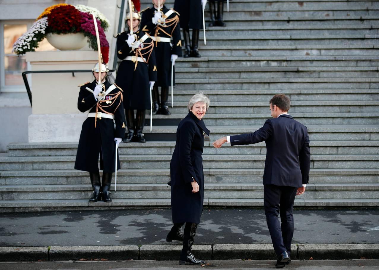 Прем'єр-міністерка Великої Британії Тереза Мей та президент Франції Емманюель Макрон Reuters