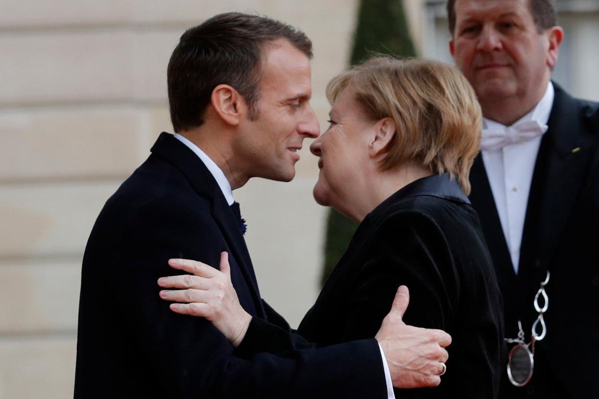 Федеральна канцлерка Німеччини Анґела Меркель та президент Франції Емманюель Макрон Reuters
