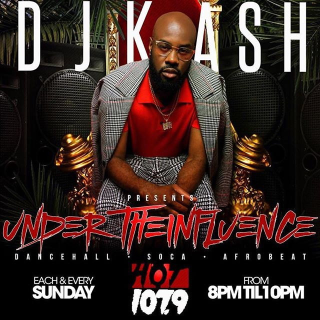 "TUNE IN RIGHT NOW!!!! @hot1079atl To ""Under the Influence"" I'm playing Dancehall, soca and afrobeat or log on to hotspotatl.com"