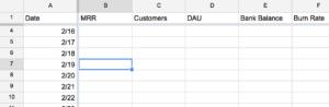 Investor Dashboard - Google Sheets