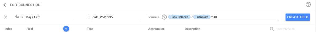 Startup Metrics Dashboard - Calculated Metrics
