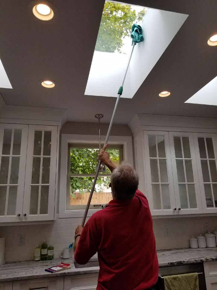cleaning skylight window